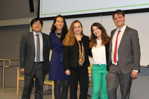 The conference Chairs Diego Manya, Grethel Aguilar, Monica Nuñez, Anna Carcamo and Camilo Huneeus (from left to right)
